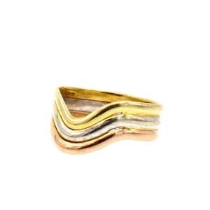 14k Tri Color Gold Ladies Ring  2.5 Grams Size 5
