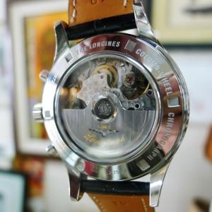 Longines Heritage Column Wheel Chronograph Steel Mens Strap Watch L2.750.4