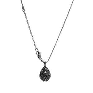 "JOHN HARDY ST. SILVER CLASSIC CHAIN BLACK SAPPHIRE & SPINEL NECKLACE 18"" 12DT"