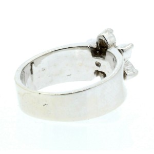 Estate 14k White gold .70ct Diamonds Daisy Ladies Ring Size 6.5