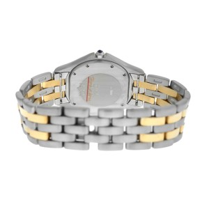 Unisex 33MM Cartier Panthere Cougar 187904 Two Row Steel 18K Gold Quartz Watch