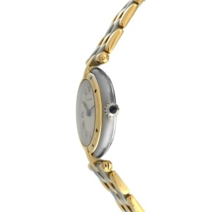 Ladies Cartier Panthere Vendome Three Row Gold Steel Quartz 24MM Watch
