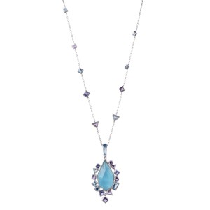 Stephen Webster Goldstruck 18K White Gold with Multi-Gemstone Pendant Necklace