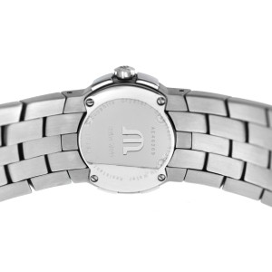 Ladies Maurice Lacroix Milestone IN1013-SS002-191 Steel $1300 Quartz 24MM Watch