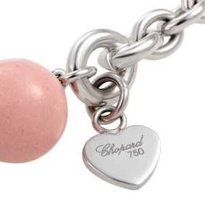 Chopard 18K White Gold with Coral Bead Sautoir Necklace