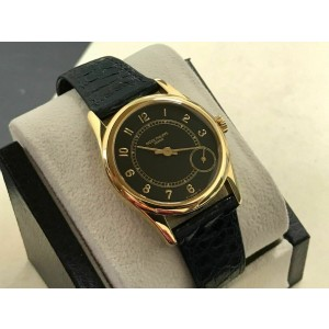 Patek Philippe Calatrava 5000 18K Yellow Gold Black Dial with Papers 35mm