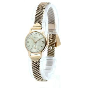 Vintage Doxa 14K Rose Gold Anti Magnetic Mechanical Ladies Watch