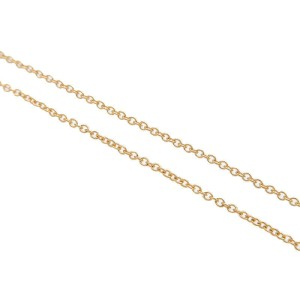 Authentic Tiffany&Co. Small Cross Necklace K18YG Yellow Gold Used F/S