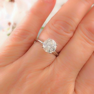 Diamond Engagement Ring Round 1.76 cts 14k White Gold $12,000 Retail
