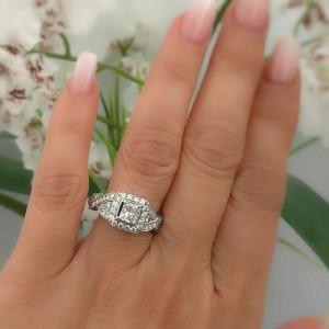 Neil Lane Diamond Engagement Ring Princess 1 38 Tcw 14k White Gold 5 600 Retail Neil Lane Buy At Truefacet