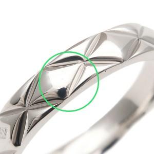 Authentic CHANEL Matelasse Ring Medium Platinum PT950 #50 US5-5.5 EU50 Used F/S