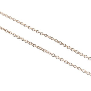 Authentic Tiffany&Co. Atlas Bar Necklace 3P Diamond K18 750PG Rose Gold Used F/S