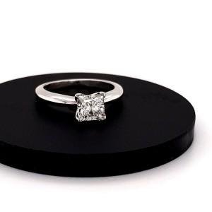 Princess Cut Diamond 1.03 Carat J SI2 GIA Solitaire Engagement Ring