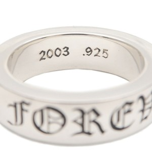 Authentic Chrome Hearts Spacer Ring 6mm FOREVER Silver US8 HK18 EU57 Used F/S