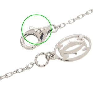 Auth Cartier Diamants Légers Necklace SM 1P Diamond 0.09ct K18WG Used F/S