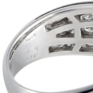 Bulgari 18K White Gold with 0.75ct Diamond Engagement Ring Size 5.75