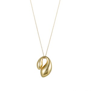 Tiffany & Co. Elsa Peretti 18K Yellow Gold Folded Pendant Necklace
