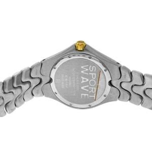 New Men's Ebel Sport Wave 1955K41 Steel Gold 39MM Quartz $2,100 Watch