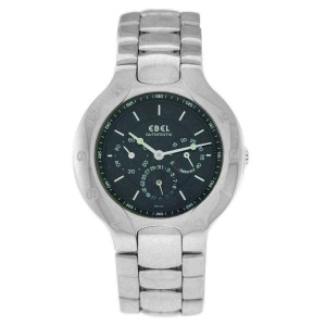 New Mens Ebel Lichine 9964980 37MM Automatic Date Power Reserve Watch