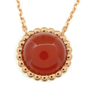 Auth Van Cleef & Arpels Perle Couleur Necklace Carnelian K18 Rose Gold Used F/S