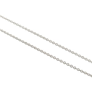 Auth Tiffany&Co. By the Yard 1P Diamond Necklace 0.03ct SV925 Silver Used F/S