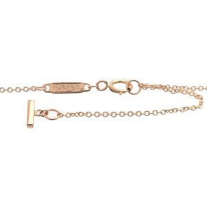 Authentic Tiffany&Co. T Smile Mini Diamond Necklace K18PG Rose Gold Used F/S