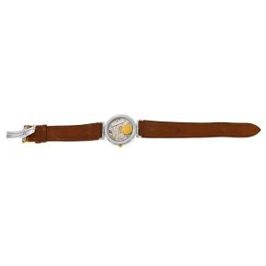 Unisex Girard-Perregaux Integrale Steel Gold 32MM Date Quartz See Through Watch