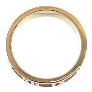 Authentic Tiffany&Co. Atlas Ring K18YG Yellow Gold US4.5 HK9.5-10 EU48 Used F/S