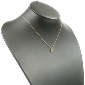Authentic Tiffany&Co. Olive Leaf 1P Diamond Necklace K18YG Yellow Gold Used F/S
