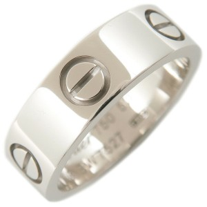 Authentic Cartier Love Ring K18 750 White Gold #50 US5.5 EU50.5 Used F/S