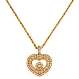 Chopard Happy Hearts Diamond Rose Gold Pendant Necklace 18K 16' Box