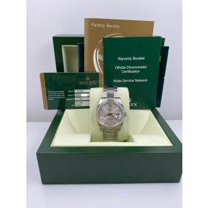 BRAND NEW BNOS Rolex Date 115200 Silver Dial Stainless Steel Box Papers STICKERS