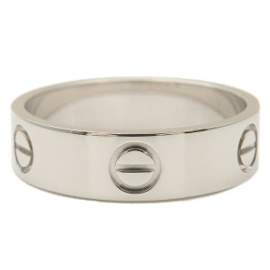 Authentic Cartier Love Ring K18 750WG White Gold #59 US9 HK20 EU59.5 Used F/S