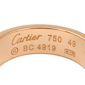Authentic Cartier Love Ring K18 750PG Rose Gold #49 US5 HK11 EU49.5 Used F/S