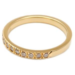 Authentic Tiffany&Co. Novo Half Circle Diamond Ring K18YG US4.5 EU48 Used F/S