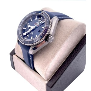 BRAND NEW Omega 232.92.38.20.03.001 Planet Ocean Blue Dial Titanium Box Papers