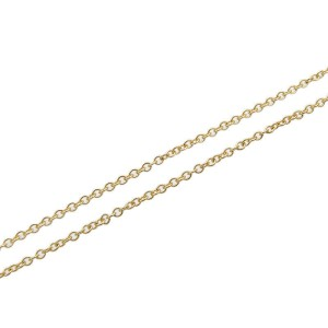 Auth Tiffany&Co. By the Yard 1P Diamond Necklace 0.05ct Yellow Gold Used F/S