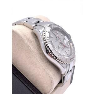Rolex Yacht Master 16622 Silver Dial Platinum Bezel Stainless Steel