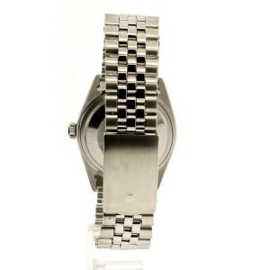 Men Vintage ROLEX Oyster Perpetual Datejust 36mm ORANGE Dial Diamond Bezel Watch