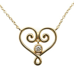 Auth Tiffany & Co. Paloma's Venezia Goldoni Necklace 1P Diamond K18YG Used F/S