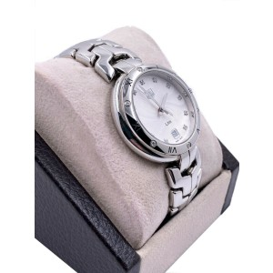 Tag Heuer Link Guilloche WAT1312.BA0956 Diamond Dial Bezel Stainless Box Papers