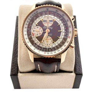 Breitling R21330 Montbrilliant Navitimer Datora 18K Rose Gold Travel Box Paper