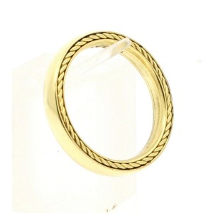 David Yurman Streamline 18K Yellow Gold 4mm_size 10 Men's Band Ring