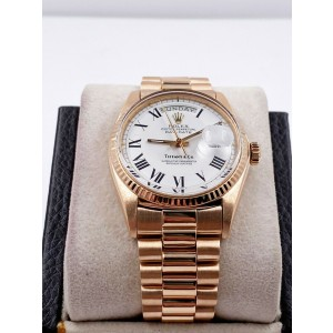 Vintage Rolex Day Date President 1803 Tiffany & Co Dial 18K Rose Gold