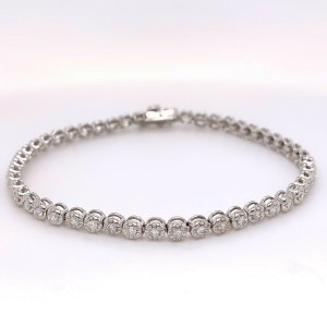 Round Diamonds 1.47 tcw Platinum Tennis Bracelet