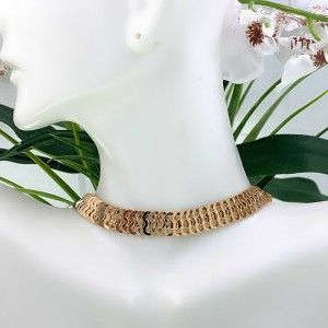 18kt Rose Gold ChainMail Necklace