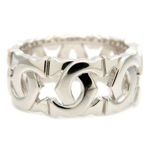 Authentic Cartier Entrelacés Ring K18 White Gold #51 US5.5 HK12 EU51  Used F/S