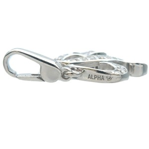 Authentic NOMBRE ALPHA Petit Initial R Diamond Charm 0.05ct White Gold Used F/S