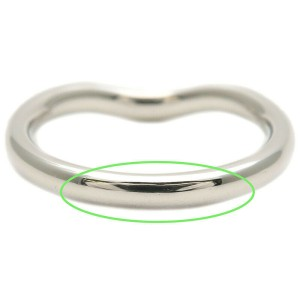 Authentic Tiffany&Co. Curved Band Ring 9P Diamond Platinum US4 EU46.5 Used F/S