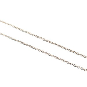 Authentic Tiffany&Co. Solitaire Diamond Necklace 0.12ct K18 Rose Gold Used F/S